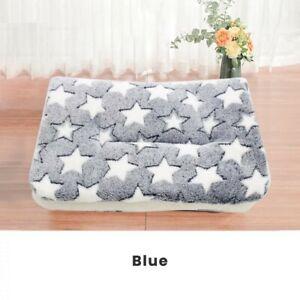 Cuscino per cane taglia grande, 91cmx75cm,SFODERABILE lavabile, blue e stelline