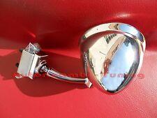 SPECCHIETTO CROMATO A GOCCIA DX=SX FIAT 500 D F L R BELLISSIMO TUNING AC004