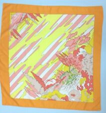 VINTAGE SCAF Orange Retro Oz Seuss Pop Psychedelic Yellow Dream Paris