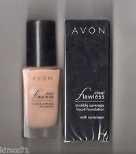 **AVON*IDEAL FLAWLESS LIQUID FOUNDATION WITH SUNSCREEN*30G** CARAMEL **NEW**