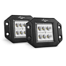 2x 18W Off-Road Flood Flush Mount LED Work Light Bar Pods fit Pickup Boats Jeep