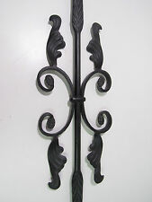 """44"""" SOLID IRON BUTTERFLY WITH LEAVES / FEATHERS BALUSTER STAIR RAIL BLACK**NEW**"""