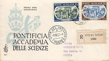VATICANO VATICAN BUSTA RACCOMANDATA FDC VENETIA 1957 ACCADEMIA SCIENZE VEDI FOTO