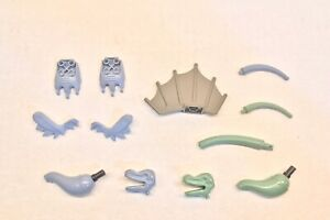 Lot of Lego Dinosaur Parts, Sand Blue/Green, Head Neck Tail Foot Sail Fin 6721