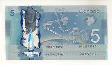 VERY RARE 2013 $5 BC-69a MACKLEM/CARNEY PREFIX HBG2743097-116 BOOK VALUE $20.00