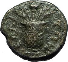 LUCIUS VERUS 161AD Elaia in Aeolis Authentic Ancient Roman Coin KALATHOS i66583