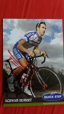 Hubert Schwab autographe signé autogramm radsport cyclisme dedicace