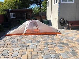 BIG AGNES  THREE ISLAND UL 4 Tent Grey/Orange Black One Size