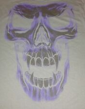 MEDIUM MEN'S T-SHIRT ** HALLOWEEN SKULL ** DARK GRAY ** 100% PRE-SHRUNK COTTON