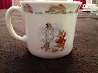 BUNNYKINS  ROYAL DOULTON SLEEDDING COFFEE MUG CUP! FROM ENGLAND VINTAGE