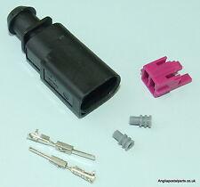 VW Audi 2 Pin Enchufe Conector 1J0 973 802 1J0973802... Free UK Post