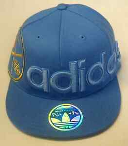 NBA Denver Nuggets Adidas 210 Fitted Flat Brim Flex Cap Hat NEW!