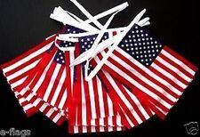 100ft Stati Uniti American Stelle Strisce Tessuto BANDIERE BUNTING 4th Luglio Giorno dell'Indipendenza