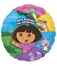 """DORA THE EXPLORER  AND FRIENDS 18"""" MYLAR BALLOON BIRTHDAY PARTY BOOTS SUPRISE"""