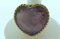 Sajen Bronze Ring by Marianna and Richard Jacobs Amore Heart Shape Pink Quartz
