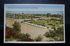 Southsea - Esplanade Gardens and Solent - Vintage Colour Retro Picture Postcard.