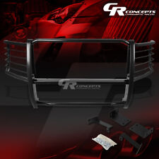 BLACK MILD STEEL FRONT BUMPER GRILLE/GRILL GUARD KIT FOR 08-10 FORD SUPER DUTY