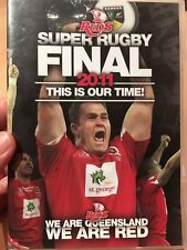 Super Rugby Final 2011 DVD Reds Qld Queensland Vs Crusaders, Like New