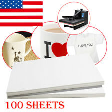 New A4 100Sheets Sublimation Iron On Inkjet Print Heat Transfer Paper T-Shirt