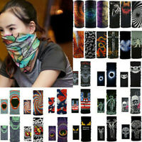 Unisex Head Mask Neck Gaiter Biker Tube Beanie Cap Bandana Magic Scarf Balaclava