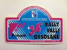 VECCHIO ADESIVO ORIGINALE / Old Sticker 34° RALLY VALLI OSSOLANE 1998 (cm 11 x7)