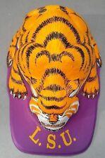 VERY RARE VINTAGE LOUISIANA LSU TIGERS FOOTBALL HAT MOLDED PLASTIC MASCOT CAP