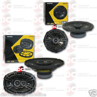 "KICKER 6.5"" 2-WAY CAR AUDIO COXIAL SPEAKERS + KICKER 6"" x 9"" 3-WAY CAR SPEAKERS"