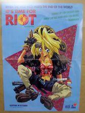 "1995 Viz Comic Riot by Satoshi Shiki Axel Advert Promo Poster 11x17"" Manga Anime"