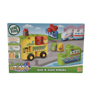 Leap Frog Leap Builders Soar and Zoom Vehicles Build and Learn Block Set NEW