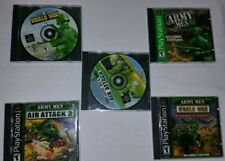 5 Army Men Games for PS1