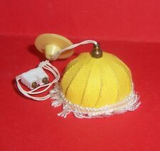 VINTAGE 1970's LUNDBY DOLLS HOUSE YELLOW SHADE CEILING LIGHT