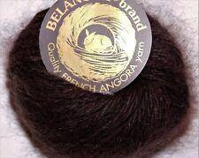 CHOCOLATE Bunny Brown Galler BELANGOR 100% ANGORA Rabbit Fur x-SOFT Luxury Yarn