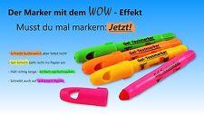 Gel Textmarker 4er Set  - grün - orange - gelb - pink