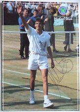 Michael tale – Wimbledon Champ 1991 cartolina Originale Autografato tennis