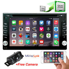 "7"" 2DIN Android HD Car Stereo DVD Radio Player GPS 4G WIFI BT+Rear View Camera"