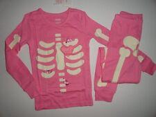 NWT Gymboree 2T Halloween Skeleton Lil' Creatures Glow In Dark Pink Gymmies Paja