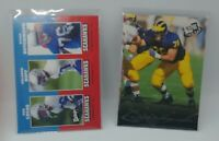 Steve Hutchinson 2 card rookie lot 2001 Upper Deck Vintage Press Pass Seahawks