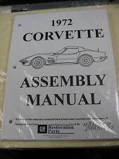 1972 72 CORVETTE (ALL MODELS) ASSEMBLY MANUAL