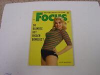 "1954, Jayne Mansfield, ""Focus"" Magazine Excellent"