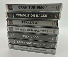 PLAYSTATION Lote Kit 7 Games PAL GRAN TURISMO TEKKEN 2 MICKEY'S DEMOLITION