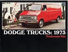 1973 Dodge Tradesman Van Sales Brochure B100/B200/B300