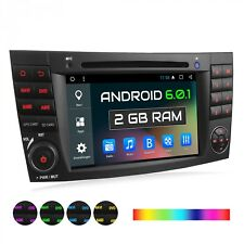 AUTORADIO CON ANDROID 6.0.1 PARA MERCEDES W211 W219 W463 GPS NAVIGATION 2DIN
