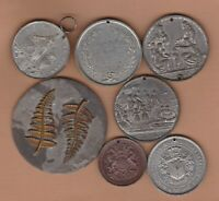 SEVEN LARGE COMMEMORATIVE MEDALS IN AVERAGE VERY FINE CONDITION.