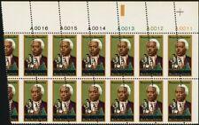 1804, Large Misperforation ERROR PB of 12 Stamps Black Heritage - Stuart Katz