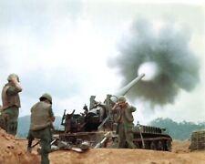 Vietnam War U.S. Army Soldiers Fire M107 Self Propelled Gun 8.5x11 Rare Photo