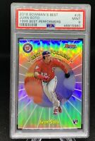 2018 JUAN SOTO ROOKIE REFRACTOR - Bowman's Best - RARE - LOW POP - PSA 9 MINT