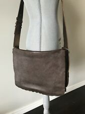 Authentic Balenciaga Brown Flap Messenger Bag