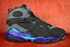WORN TWICE Air Jordan Retro 8 Aqua Size 8 305381 025 2015 Release Black Blue