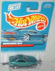 Hot Wheels 2000 # 120 Mercedes SLK aqua,black base,black int,excellent card