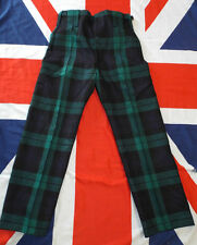 "ROYAL REGIMENT OF SCOTLAND DRESS TREWS - Waist: 27"" , British Army Issue"